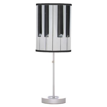Musical Piano Keyboard Table Lamps