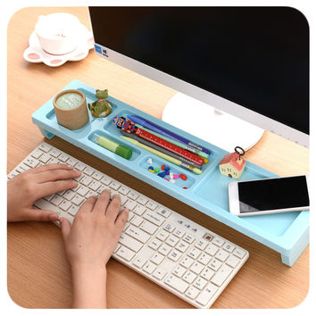 Creative Plastic Desktop Storage Box Organizer Drawer Pen Card Office Stationery Holder Home Desk Zakka Organizers