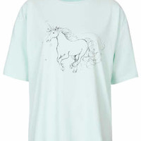 MINT UNICORN TEE BY BOUTIQUE