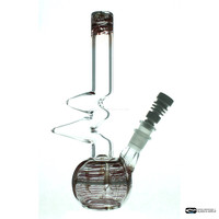 "10.2"" Tall Dual Use Clear/Maroon Zong w/Diffuser Stem & Ceramic Nail"