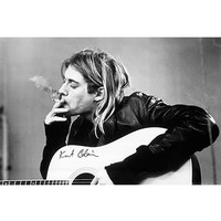 Kurt Cobain Smoking Poster