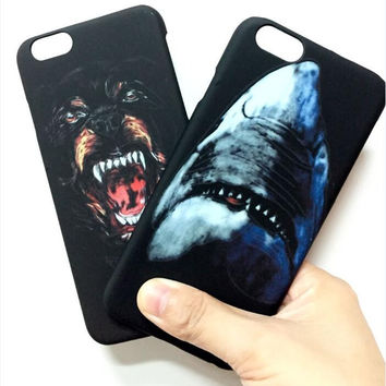 Givency Hard Plastic Branded Shark Phone Case Cover for iPhone 7 7 Plus 6 6s 6 Plus 6s Plus in Retail Package,Free Shipping