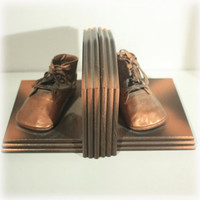 Bronze Baby Shoe, Bookends, Baby Decor, Baby Shoe