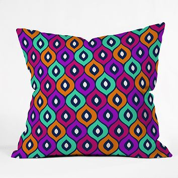 Aimee St Hill Leela Purple Throw Pillow
