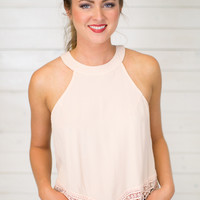 Blushing Crochet Top