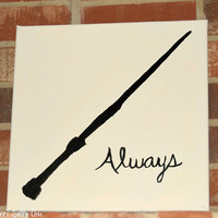 Customizable Harry Potter Silhouette Canvas Art - Harry Potter Wall Art