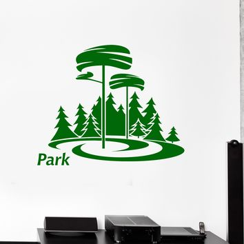 Wall Decal Park Nature Trees Forest Grass Vacations Vinyl Sticker (ed1199)