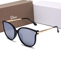 Dior Trending Women Personality Summer Sun Shades Eyeglasses Glasses Sunglasses Black Frame Grey I-HWYMSH-YJ