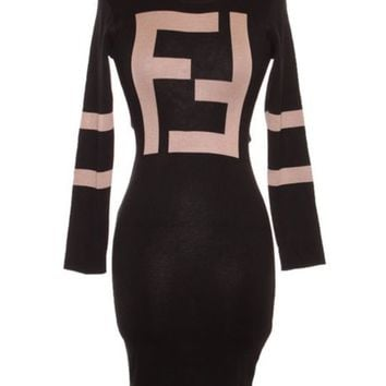 Fefe slim body dress