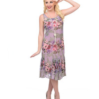 Unique Vintage Exclusive Hand Beaded Floral Antique Style Anna May Flapper Dress