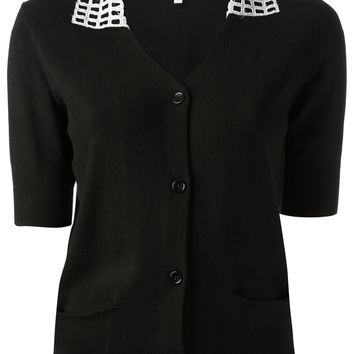 Carven Netted Collar Cardigan
