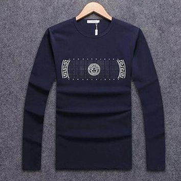 DCCKGSQ versace women men fashion casual top sweater pullover
