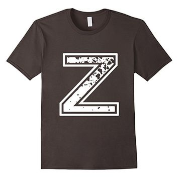 "Big ""Z"" Alphabet Vintage Distressed T-Shirt"