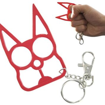 Defense Doggy Key Chain- Red