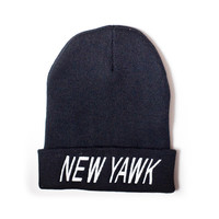 "STNY Promo Clothing  — Midnight Black ""NEW YAWK"" Promo Skully"