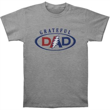 Grateful Dead Men's  Grateful Dad T-shirt Grey