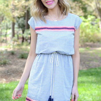 Ophelia Striped Dress by THML
