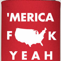 merica coozies, personalized coozies, custom koozies, party coozies, party supplies, summer picnics, american spirit, patriotic stuff, cozy