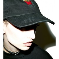 Petals and Peacocks French Fries Destroyed Hat | Dolls Kill