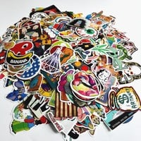 100pcs mixed laptop snowboard luggage decor jdm brand toy sticker on toy styling decal motorcycle doodle sticker toy sticker