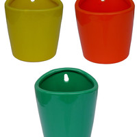 Classic Brands Round Wall Planters (Set of 3)