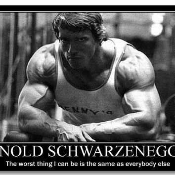 NICOLESHENTING Arnold Schwarzenegger Motivational Quotes Art Silk Poster Bodybuilding Fitness Inspirational Pictures Wall Decor