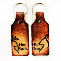 Buck Doe Keychains