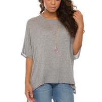 Kayla Oversized Top - Grey