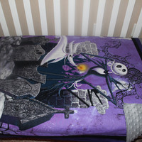 Jack Skellington Nightmare Before Christmas  Crib Blanket