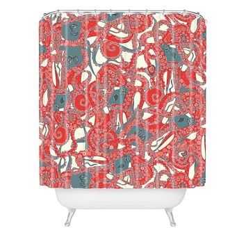 Sharon Turner tentacles Shower Curtain