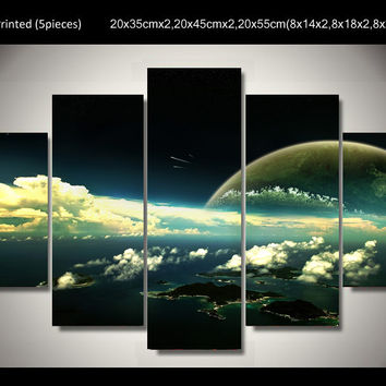 5 Panel marvelous universe Mural Wall Canvas Wall Art Decor