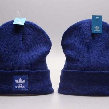 08f639476ad Perfect adidas Print Women Men Hip hop Beanies Winter Knit Hat C