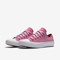 The Converse Chuck II Two-Tone Leather Low Top Unisex Shoe.