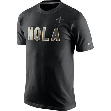 New Orleans Saints Nike Reflective Pack T-Shirt - Black