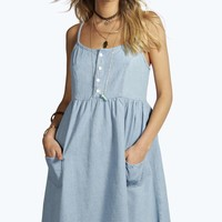 Harriett Strappy Swing Denim Dresses