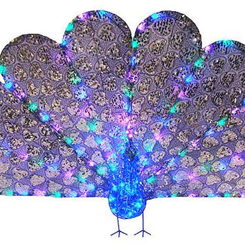 Peacock Christmas Yard Art - Body In Acrylic Jewels