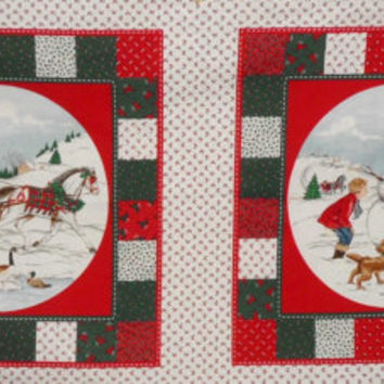 Home for the Holidays Fabric Panels Christmas