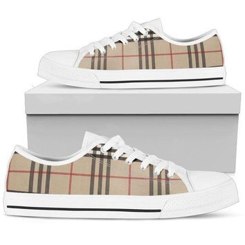 CREYON9R Women's Low Top Canvas Shoes Inspired by Burberry