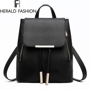 High Quality PU Leather Top-handle Women School Bags Backpacks