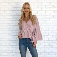 Falling In Love Sweater Top in Pink