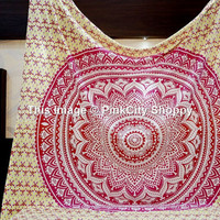 Indian Tapestries Hippy Wall Hanging Mandala Tapestry throw Decor Ethnic Queen Bedspread Table Cover Blanket Hippie Boho Decorative Wall Art