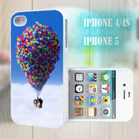 unique iphone case, i phone 4 4s 5 case,cool cute iphone4 iphone4s 5 case,stylish plastic rubber cases cover, funny blue balloon  fly p992