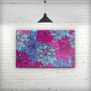 Vibrant Colorful Floral Sprouts - Fine-Art Wall Canvas Prints
