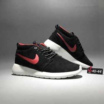 """Nike Roshe Run"" Men Sport Casual Fashion Anti-fur High Help Boots Sneakers Running Shoes"