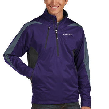 Baltimore Ravens Antigua Discover Half Zip Pullover Jacket – Purple