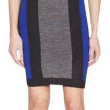 NWT Susana Monaco Color Block Sweater Dress, Zinc, Size Medium