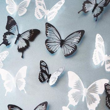 18 pieces DIY 3D Butterfly Wall Stickers Art Design Decals Room Decor Home Decor