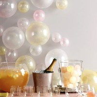 planning a party / the balloons... not so much the champagne haha