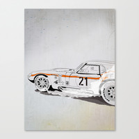 Daytona Coupe_recollection Canvas Print by SEVENTRAPS