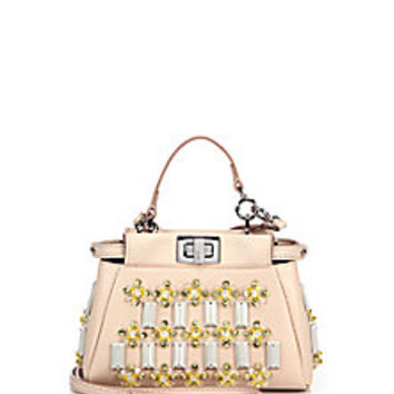Fendi - Peekaboo Micro Beaded Pouch - Saks Fifth Avenue Mobile